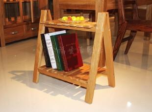 外贸出口原单纯实木非柞木橡木宜家具置物架折叠小书报架书柜鞋架,书架,