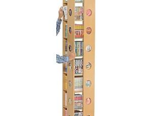 日本原单 环保 组合书柜宜家柜子 旋转书架简易书柜简约书柜CD架,书架,