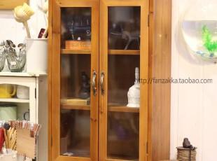 Fan's zakka杂货 对开三层玻璃立柜 储物收纳柜 边柜 书柜,书架,