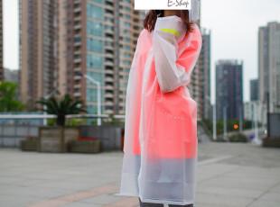 特】范思蓝恩定制款 带帽半透明 风衣式长款成人雨衣雨披 情侣款,伞,