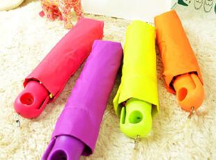 独家!橙子美伞!日本CAETLA折叠伞荧光色折叠糖果色一甩干晴雨伞,伞,