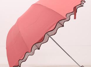 波浪荷叶边素色银胶防晒伞 遮阳伞 太阳伞 拱形伞 公主伞,伞,
