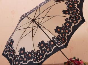 出口日本  接边大花朵长柄伞 日系美伞 公主伞 雏菊花伞 防紫外线,伞,