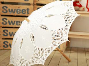 原创品牌【米尼·芭比】 唯美度假风英伦蕾丝遮阳伞,伞,