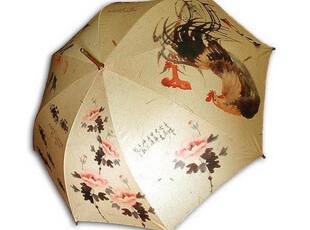 koreashop 张承业:水墨山水画油画自动弯钩晴雨伞S083,伞,