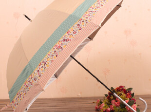 日本官网同步出售YoCo超轻长柄碎花防晒伞 银胶图层 最轻的长柄伞,伞,