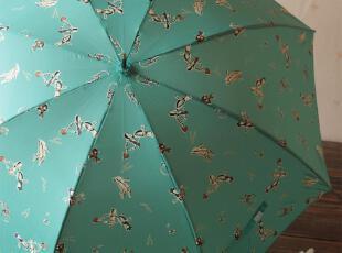 日系纤细小皮柄高跟鞋 口红 长柄晴雨二用公主阳伞,伞,