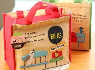 满39包邮 创意家居 旅行收纳袋 布艺 小手提包 便当包便当袋,保温袋,