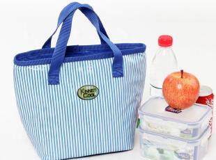 精耐特新品 海军风手拎条纹 保温便当包 保温袋 午餐饭盒包,保温袋,