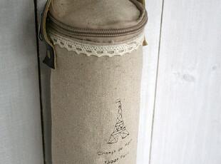 FEN ZAKKA 杂货 棉麻印花杯套 保温袋(埃菲尔铁塔图案),保温袋,