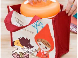 默默爱♥韩国可爱红帽女孩帆布饭盒包/便当袋/饭盒袋,保温袋,
