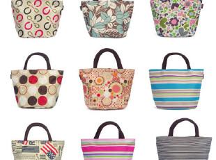 X636韩版便当包手拎小包饭盒包女包条纹包手提包2012新款批发包包,保温袋,