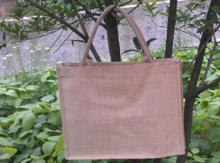 纯色黄麻购物袋手提包 收纳包饭盒包休闲包 沙滩包jute bag,保温袋,