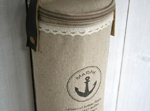FEN ZAKKA 杂货 棉麻印花杯套 保温袋(海锚图案),保温袋,