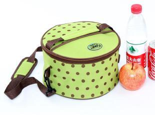 精耐特 饭盒袋 保温包 便当包 短桶形波点 保温袋,保温袋,