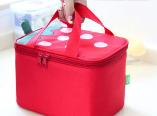 精耐特 草莓方形保温袋 便当包 饭盒袋 保温包 带饭包,保温袋,