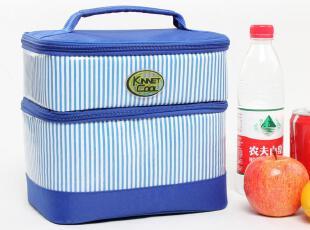 精耐特 海军风双层椭圆形保温袋 郊游便当包 饭盒袋,保温袋,