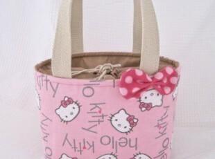 【hello kitty】饭盒包便当包保温包手拎包日系可爱萌物-粉色,保温袋,