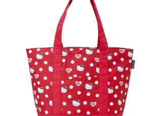 【预定】日本正品HELLO KITTY红色白圆点可爱午餐保冷保温包 红,保温袋,