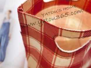 【满6件包邮】日范儿 格子纹便当包 格纹毡 毛托特包,保温袋,