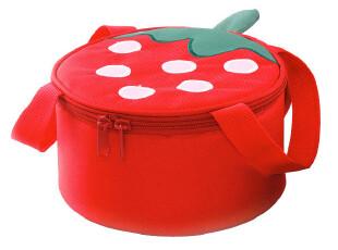 精耐特新品 草莓短桶型午饭保温袋 饭盒袋 上班便当包 野餐保温包,保温袋,