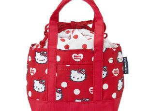 【预定】日本正品hello kitty可爱午餐保冷保温包 红色波点,保温袋,
