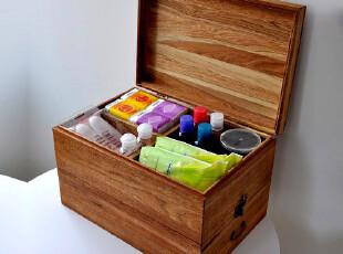包邮出口外贸原单欧单WOODHOO实木药箱 杂物收纳化妆盒内衣收纳箱,内衣盒,