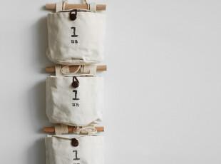 Z006 日式ZAKKA 自由组合帆布小挂袋收纳袋 衣柜饰品内衣收纳套装,内衣盒,