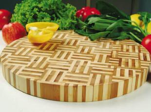 柏运达高品质环保无菌圆形小号竹砧板菜板 送砧板架 不掉屑,刀架和砧板,