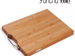 双*抗菌楠板竹菜板竹案板切菜板竹面板刀板ZB4020方形平压竹砧板,刀架和砧板,