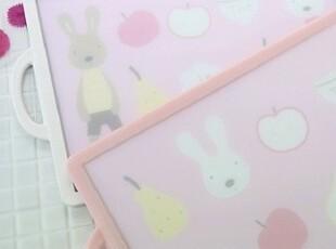 ★公主梦想★韩国家居*可爱小兔子*卡通造型果蔬抗菌切菜板W2398,刀架和砧板,