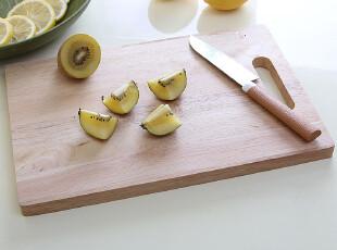 实木切菜板 砧板 韩国厨房案板 寿司板切水果板厨房用品餐饮用具,刀架和砧板,