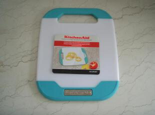 美国购kitchenaid蓝白抗菌砧板 小,刀架和砧板,