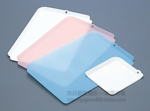 日本进口砧板套装 厨房用品 切菜板 抗菌菜板 有檐 4片装 彩色,刀架和砧板,