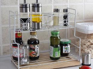 墙挂桌面2用 双层架墙上置物架子 菜板架厨房收纳架冰箱侧壁挂架,刀架和砧板,