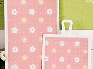【韩国进口家居】*浪漫小花*砧板/切菜板 两件套装 n0647,刀架和砧板,
