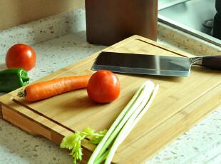 JP3700 精品老竹厨房砧板 全竹拼压 带水槽砧板剁板 超厚型,刀架和砧板,