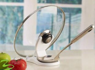 厨房用具 置物架 厨具收纳架 勺子架 菜板架 砧板架 多功能锅盖架,刀架和砧板,