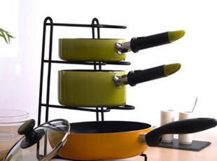 纳川创意厨房铁艺锅架锅具厨具收纳架置物架菜板锅盖储物架收纳筐,刀架和砧板,