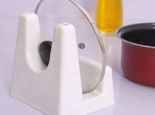 三件套装 塑料小锅盖架 带接水盘 锅架菜板架砧板架厨房置物架子,刀架和砧板,
