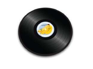 英国 JOSEPH JOSEPH  多彩强化玻璃砧板-黑胶唱片(香蕉),刀架和砧板,