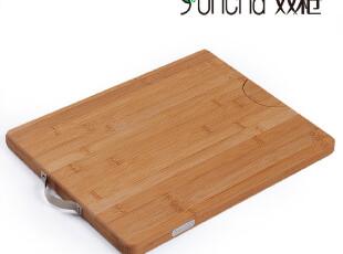 双*天然抗菌环保竹菜板竹案板切菜板竹面板刀板ZB4025方形竹砧板,刀架和砧板,
