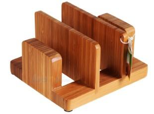 双*健康厨房创意竹菜板竹案板切菜板菜板竹砧板刀板架 BJ1103,刀架和砧板,