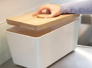 英国Joseph原装进口 欧洲山毛榉原木 砧板式顶盖面包箱食物储存箱,刀架和砧板,
