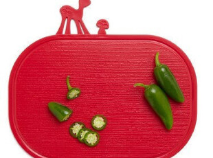 *Samyo 美国代购 创意生活 红色小鹿与蘑菇菜板/砧板,刀架和砧板,