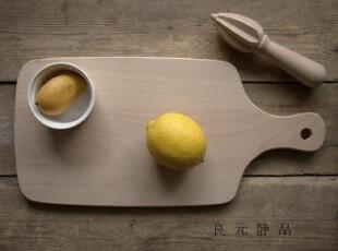 榉木制 带把手长方砧板 菜板 面包板 樱桃logo,刀架和砧板,