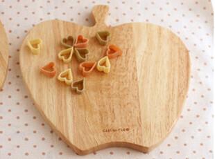 【韩国进口家居】*来自日本*木质可爱苹果形状砧板/切菜板 n1040,刀架和砧板,