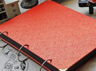 手工相册《喜宝》红色孔雀纹 成长记录 旅行册 包快递,创意礼品,