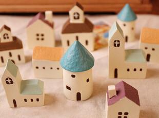 日单akka杂货 送你一座小房子系列迷你 迷你家具摆件 地中海风情,创意礼品,