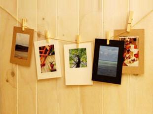 【满39包邮】 DIY 相册 照片墙 多彩黑卡牛皮白卡 纸相框带麻绳,创意礼品,